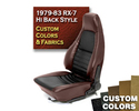 Hi-Back RX-7 Seat Cover - Custom Colors