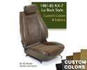 Lo-Back Seat Cover- Custom Colors/Fabrics
