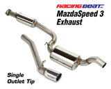 MazdaSpeed 3 Exhaust System - Single Tip<br/>07-09 MS3 07-09 MS3
