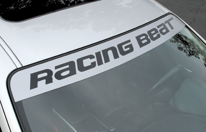 Windshield Visor Decal Silver Rx8 Racing Beat