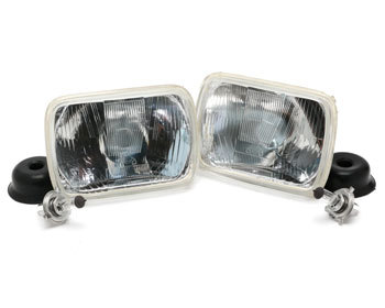 : Lighting : 200mm Rectangular Halogen Head Lamp 1986-92 RX-7