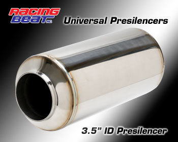 : Exhaust - Universal Parts : Race Presilencer  3.5-inch ID
