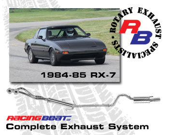 : Exhaust - Complete Systems : Exhaust System 84-85 RX-7 12A Man Trans