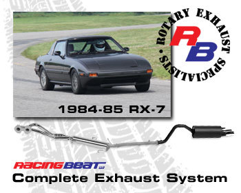 : Exhaust - Complete Systems : Exhaust System 84-85 RX-7 12A Auto