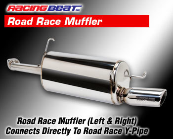 : Exhaust - Complete Systems : Road Race Muffler - Left 86-92 RX-7