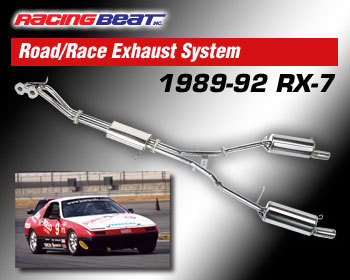 : Exhaust - Complete Systems : Stainless Steel Road Race Exhaust System 89-92 RX-7 Non-turbo - Man Trans