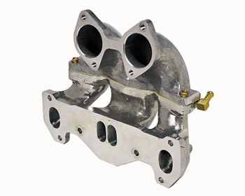 : Intake - Weber : Sidedraft Carburetor Upper Manifold Section Dellorto & Weber