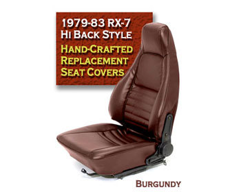 : Upholstery Kits : Hi-Back RX-7 Seat Cover - Burgundy 79-83 RX-7 - All Models