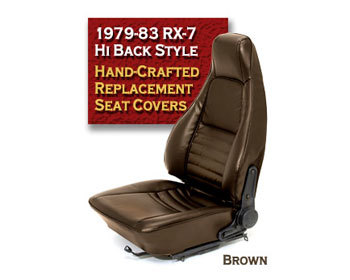 : Upholstery Kits : Hi-Back RX-7 Seat Cover - Brown 79-83 RX-7 - All Models