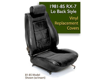 : Upholstery Kits : Lo-Back Seat Cover - Black 84-85 RX-7 Lo-Back Seats