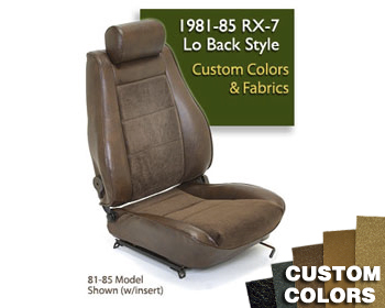 : Upholstery Kits : Lo-Back Seat Cover - Custom Colors/Fabrics 84-85 RX-7 Lo-Back Seats