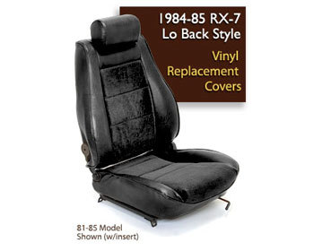 : Upholstery Kits : Lo-Back Seat Cover - Black 84-85 RX-7 Originally Equipped W/Leather Seats