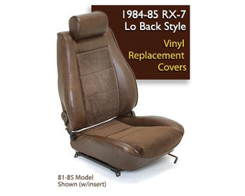 : Upholstery Kits : GSL-SE Seat Cover - Burgundy 84-85 RX-7 Originally Equipped W/Leather Seats