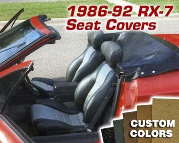 : Upholstery Kits : Replacement Seat Covers - Custom Colors/Material 86-92 RX-7 Convertible w/o headrest speakers