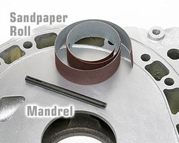 : Engine - Porting & Assembly  Tools : Mandrel Sandpaper Strips