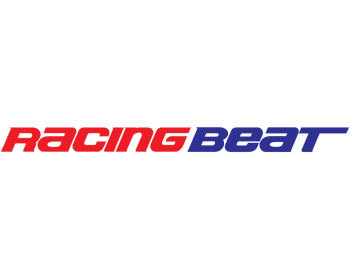 Mazda Protege Performance Parts : Decals & Promo Items : Racing Beat Logo 1x10 Red/Blue
