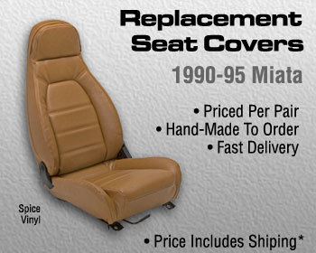 : Upholstery Kits : Replacement Seat Covers - Spice Tan 90-95 Miata with headrest speakers