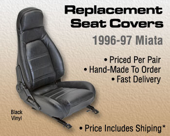 : Upholstery Kits : Replacement Seat Covers - Black 96-97 Miata w/o headrest speakers
