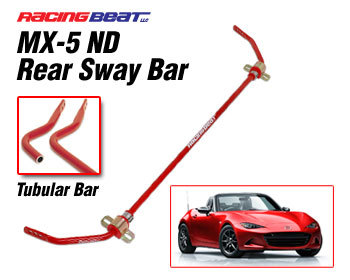 : Suspension - Sway Bars : Sway Bar - Tubular Rear 16-18 MX-5 ND