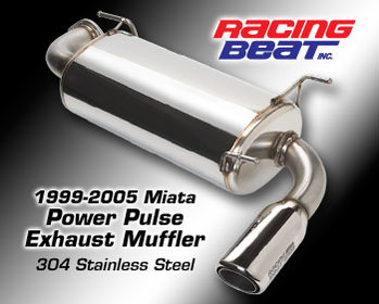 : Exhaust Systems - 99-05 : Power Pulse Miata Muffler 99-05 Miata
