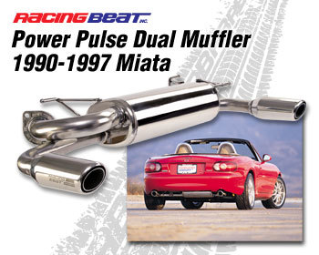 : Exhaust - Components : Power Pulse Dual Outlet Muffler 90-97 Miata