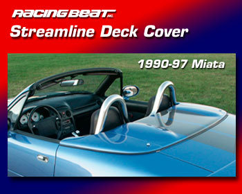 : Body - Aero Components : Streamline 3-Piece Deck Cover 90-97 Miata