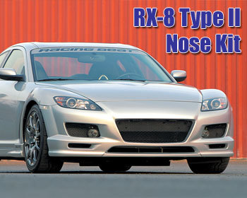 : Body - Aero Components : RX-8 Type II Front Nose Kit 04-08 RX-8