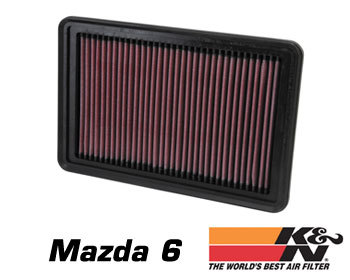 : Intake - Kits/Air Filters : K/N Air Filter Element 02-10 Mazda 6 - 2.0/2.3L Non-turbo
