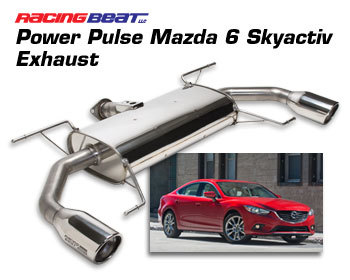 : Exhaust - Cat-Back Systems : Power Pulse Exhaust System 2014-17 Mazda 6 2.5L Skyactiv