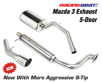 : Exhaust - Cat-Back Systems : Exhaust System - 5 Door 04-09 Mazda 3 2.0/2.3L