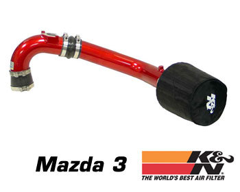 : Intake - Kits/Air Filters : K/N Typhoon Air Intake - Red 04-09 Mazda 3