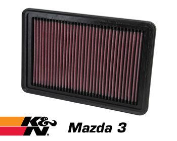 : Intake - Kits/Air Filters : K/N Air Filter Element 04-13 Mazda 3 (All)