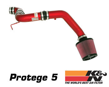 Mazda Protege Performance Parts : Intake - Kits/Air Filters : K/N Typhoon Air Intake - Red 02-03 Protege