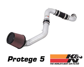 Mazda Protege Performance Parts : Intake - Kits/Air Filters : K/N Typhoon Air Intake - Silver 02-03 Protege