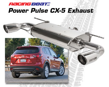 Mazda CX-3/CX-5 Performance Parts : Exhaust - Cat-Back Systems : Power Pulse Exhaust 2013-2017 CX-5 Skyactiv - All
