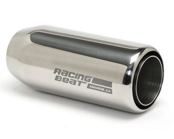 : Exhaust - Universal Parts : Muffler Tip - 2-inch Inlet Universal Double-wall Round - Left