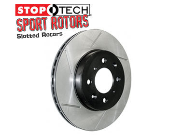 : Brake - Discs : StopTech Sport Brake Rotors - Slotted 06-14 MX-5 - Front Set