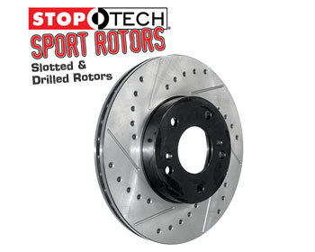 : Brake - Discs : StopTech Sport Brake Rotors - Drilled and Slotted 90-93 Miata - Rear Set