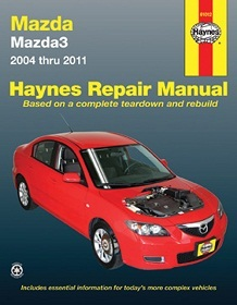 Mazda Protege Performance Parts : Books & Gifts : Haynes Repair Manual Mazda3 2004-2011