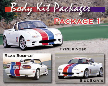 : Body - Aero Components : Complete Body Kit - Package 1 90-97 Miata