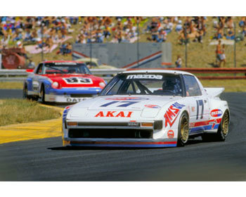 Mazda Protege Performance Parts : Vintage Racing Posters : 1980 Mazda RX-7 GTU