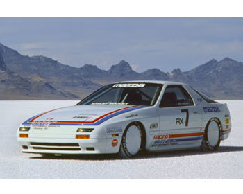 : Vintage Racing Posters : 1986 RX-7 Bonneville Land Speed Record Car