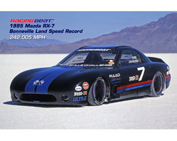 Mazda Protege Performance Parts : Vintage Racing Posters : 1995 RX-7 Bonneville Land Speed Record Car