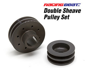 : Cooling System : Alternator and Main Drive Pulley Set - Double Sheave 74-92 Rotary Engines (All)