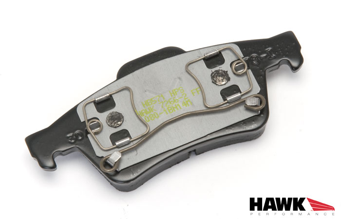 ... Hawk HPS Brake Pads   Rear   04 05 Mazda 3   Detail 2 ...
