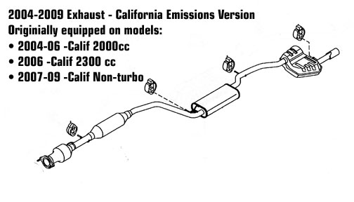 2012 mazda 3 exhaust diagram