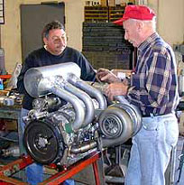 Jim Mederer and 2001 3-Rotor Race Engine