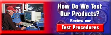 Racing Beat Product Test Procedures